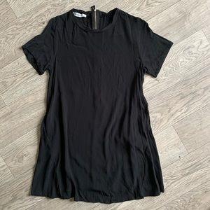 Black casual simple dress